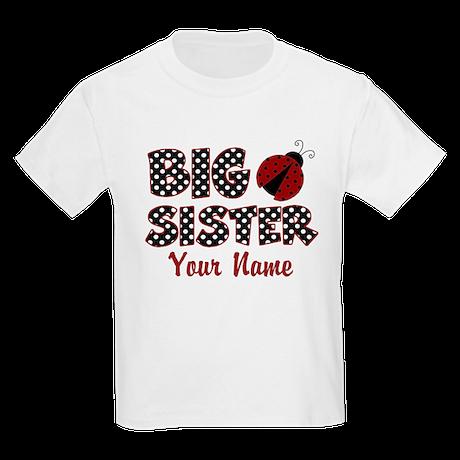 Big Sister Ladybug Kids Light T-Shirt