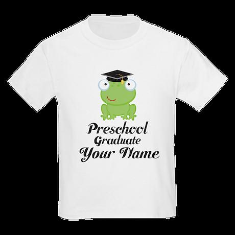 Personalized Preschool Graduate Kids Light T-Shirt