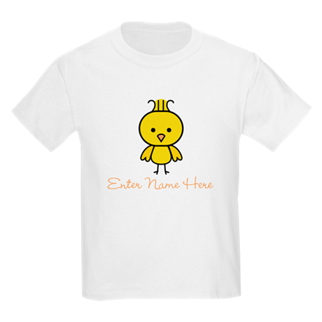 Personalized Baby Chick Kids Light T-Shirt