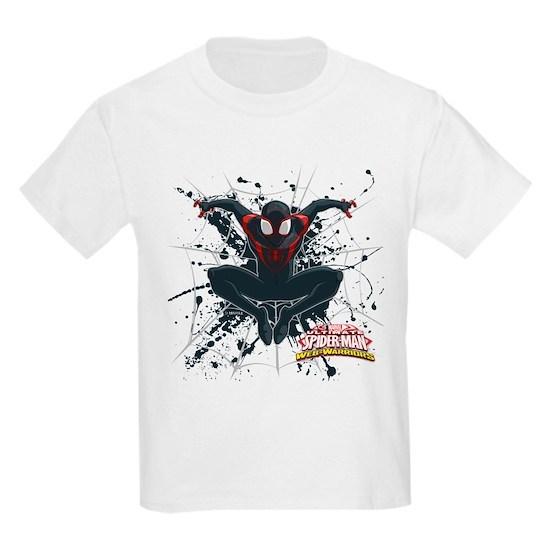 8e9d6370 Ultimate Spider-Man Miles Morales Splatter Kids Light T-Shirt ...