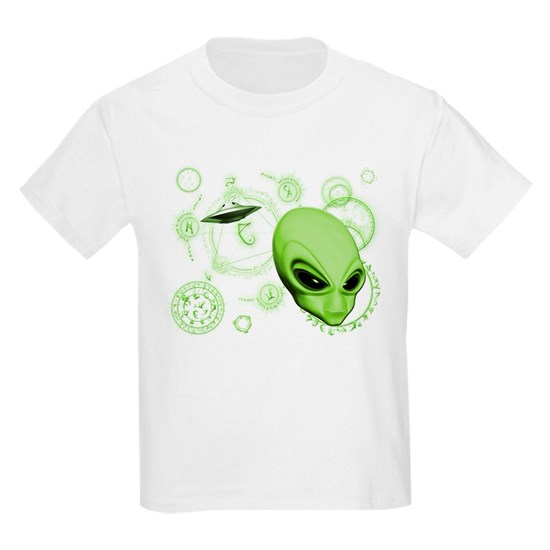 Alien Head w-Colored Circles All Lime
