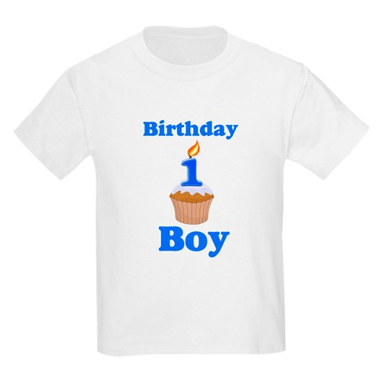 1 Year Old Birthday Boy Kids Light T Shirt