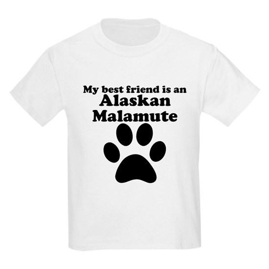 Alaskan Malamute Best Friend Kids Light T-Shirt By Barnie