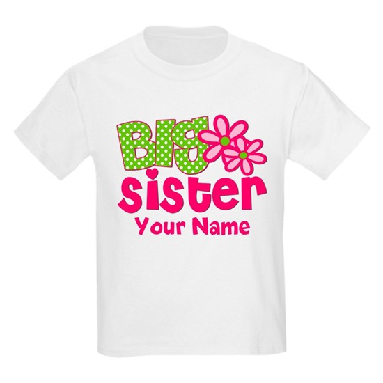 Big Sister Pink Green Personalized