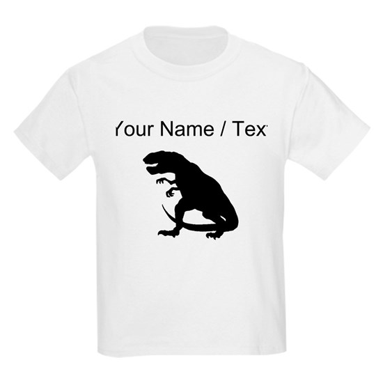 12507d58 Tyrannosaurus Rex Silhouette (Custom) Kids Light T-Shirt ...