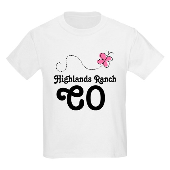 Highlands Ranch Colorado Kids Light T-Shirt By