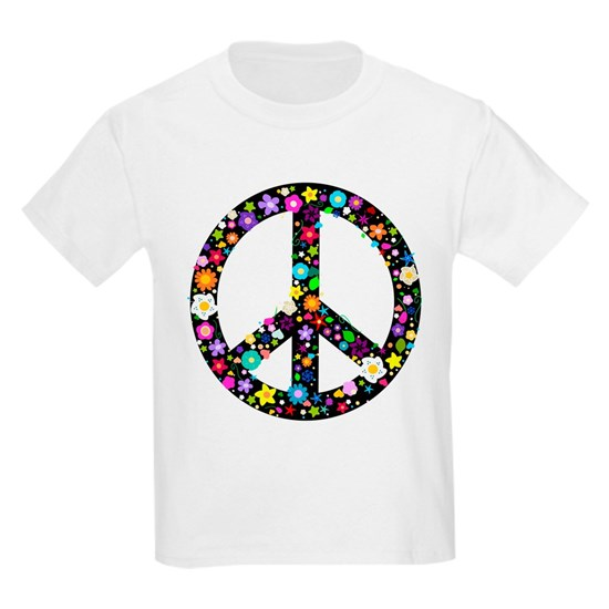Hippie Flowery Peace Sign