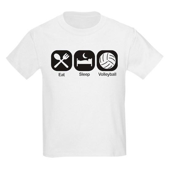 eat sleep volleyball kids light tshirt eat sleep