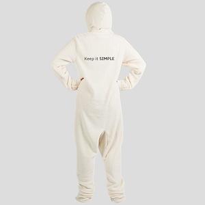 Keep It Simple Footed Pajamas
