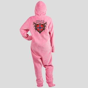 proud_norwegian Footed Pajamas