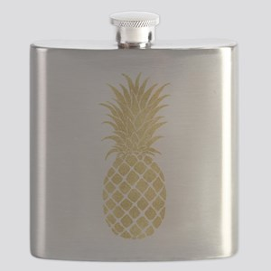 Gold Glitzy Pineapple Flask