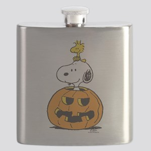 Snoopy and Woodstock Halloween Flask