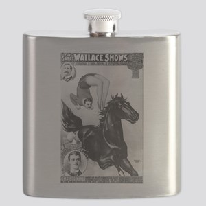 stickney bareback acrobat B+W Flask