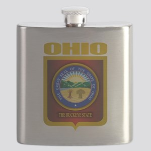 Ohio State Seal (B) Flask