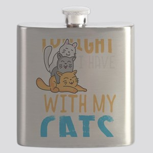 Cats Cat Lover Plans with Cats Cat Life Flask