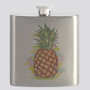 Cute PineApple Illustration Flask
