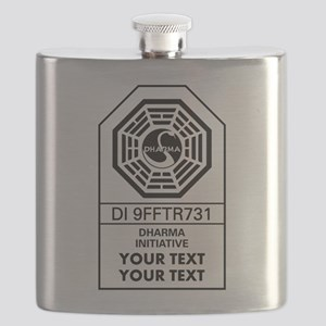 Custom Dharma Label Flask