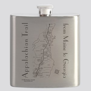 Appalachian Trail Map Flask