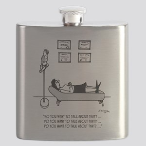 3061_parrot_cartoon Flask