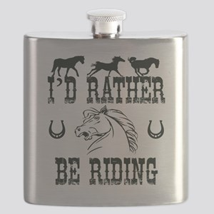 Horses - I'd Rather Be Riding Flask