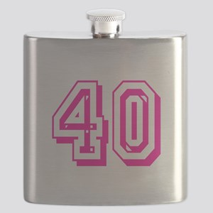 40 Pink Birthday Flask