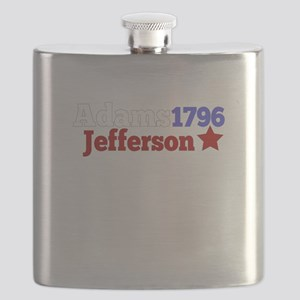 John Adams and Thomas Jefferson Campaign for Flask