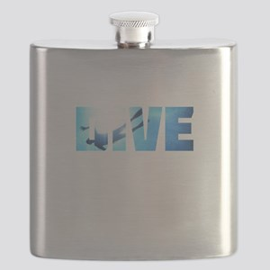 Scuba Diving: Divers Shadow Deep Swim t-shir Flask