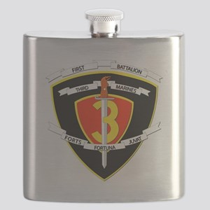 SSI - 1st Battalion - 3rd Marines Flask
