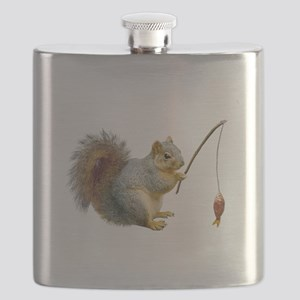 Fishing Squirrel Flask