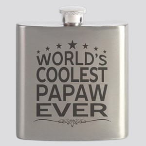 WORLD'S COOLEST PAPAW EVER Flask