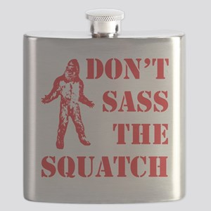 dont sass the squatch red Flask