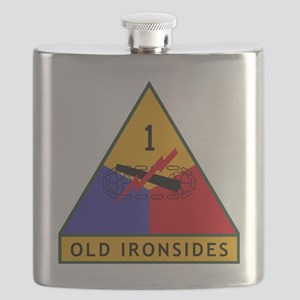 1st_US_Armored_Division_SSI Flask