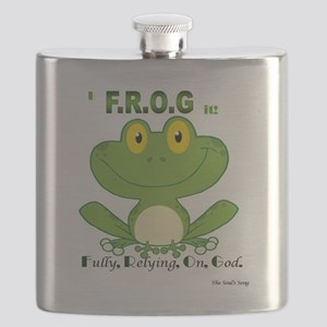 F.R.O.G. Fully, Relying,On,God Flask