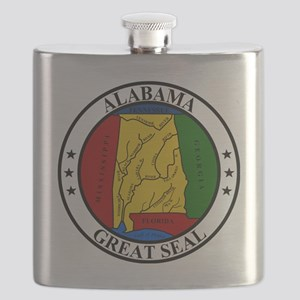 Seal of Alabama Flask