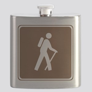 brown_hilking_trail_sign_hiking Flask
