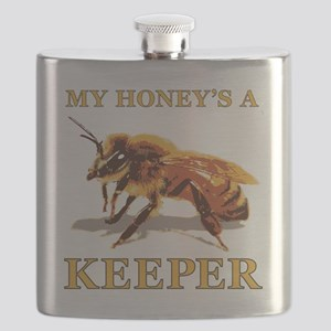 My Honey Is A Keeper Flask