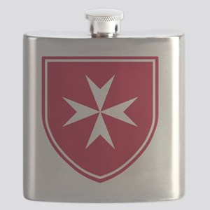 Cross of Malta - Red Shield Flask
