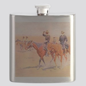 Old West Cavalry Flask