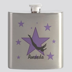 Purple Trampoline Star Flask