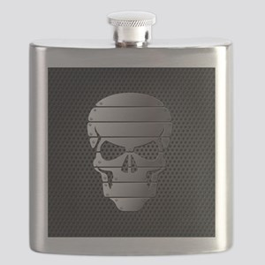 Chrome Skull Flask