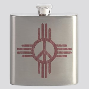 New Mexico Peace Sign Flask