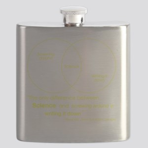 Mythbusters Science Quote (yellow) Flask