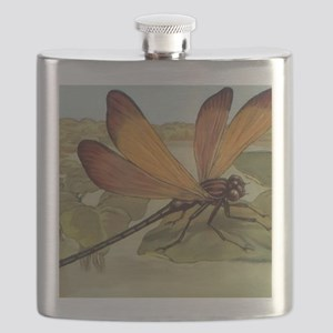 Dragonfly Painting Flask