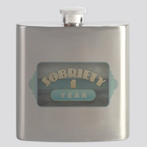 Sober 1 Year - Alcoholics Flask