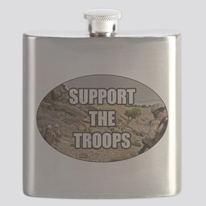 Support The Troops - Army Flask