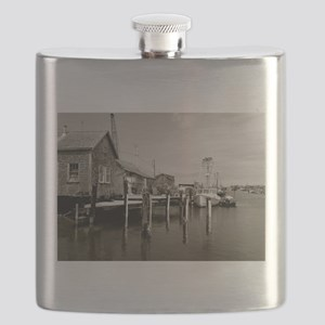 Menemsha Black & White Flask