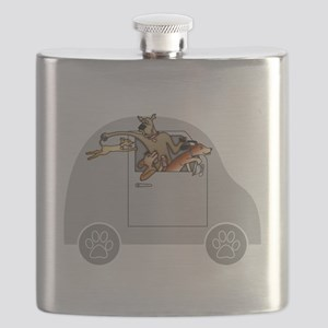 Riding in Cars with Dogs Flask