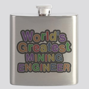 Worlds Greatest MINING ENGINEER Flask