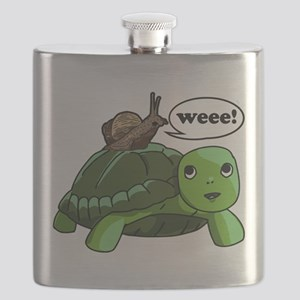 Snail Riding Turtle Flask