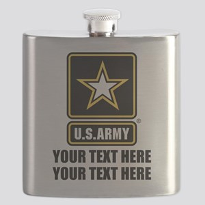 CUSTOM TEXT U.S. Army Flask